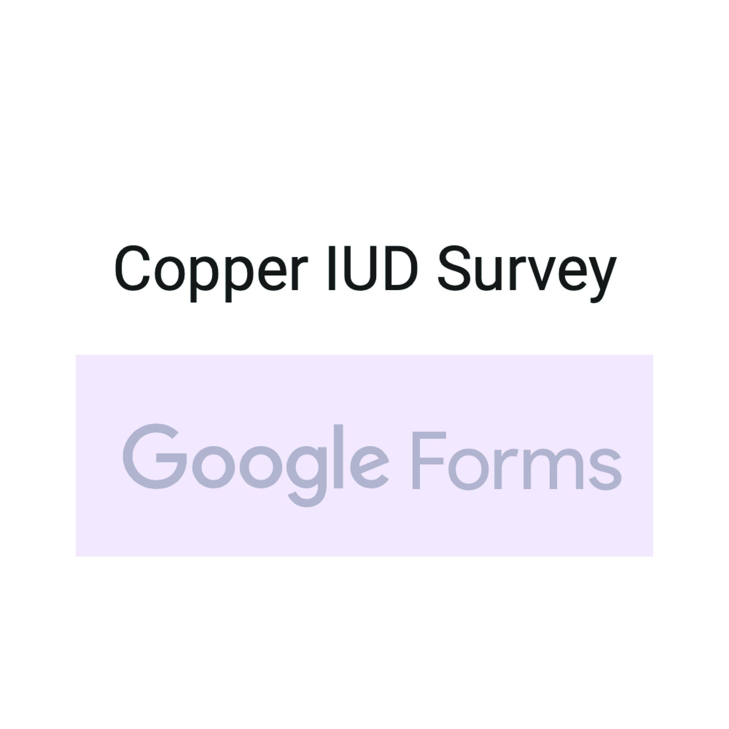 Take The Copper IUD Survey