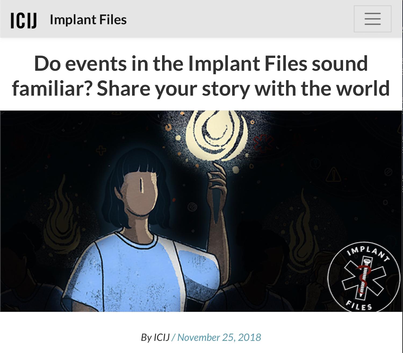 Take the Implant Files Survey