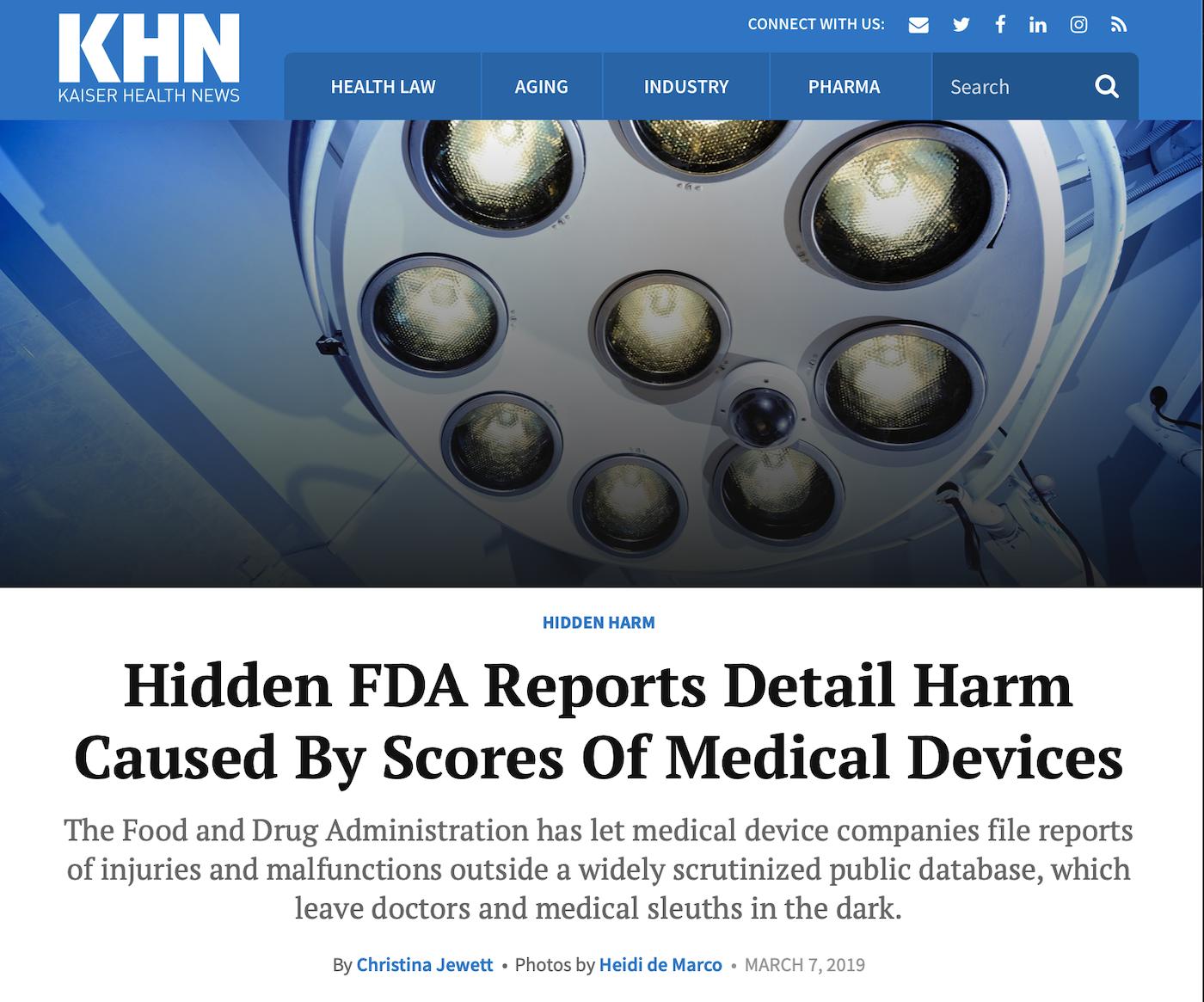 March 7, 2019 - Kaiser Health News
