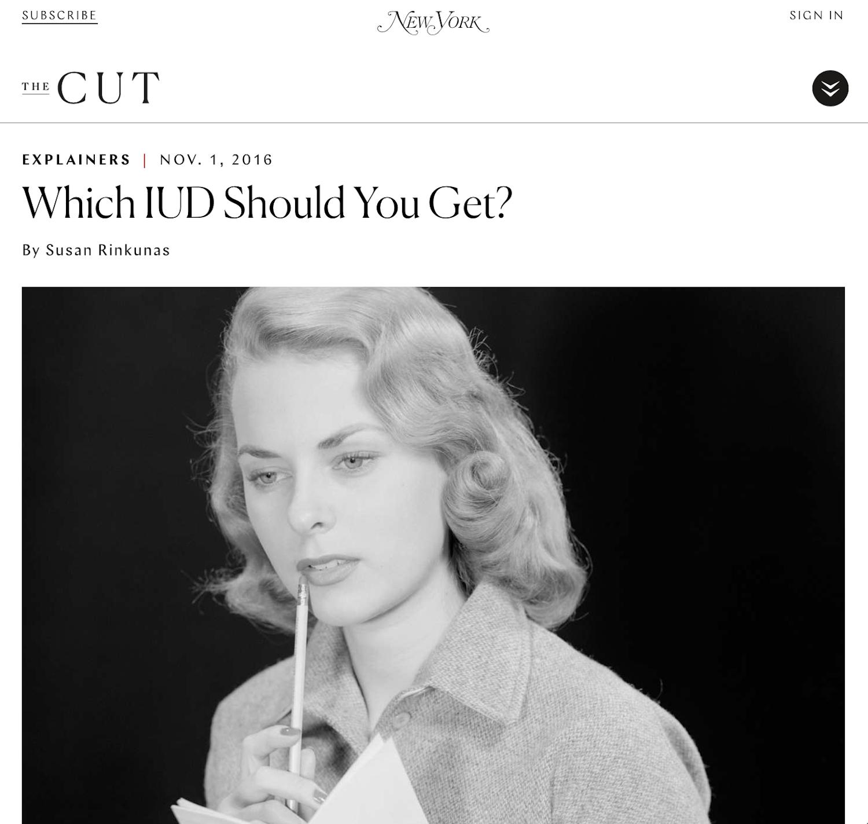 November 1, 2016 - New York Magazine