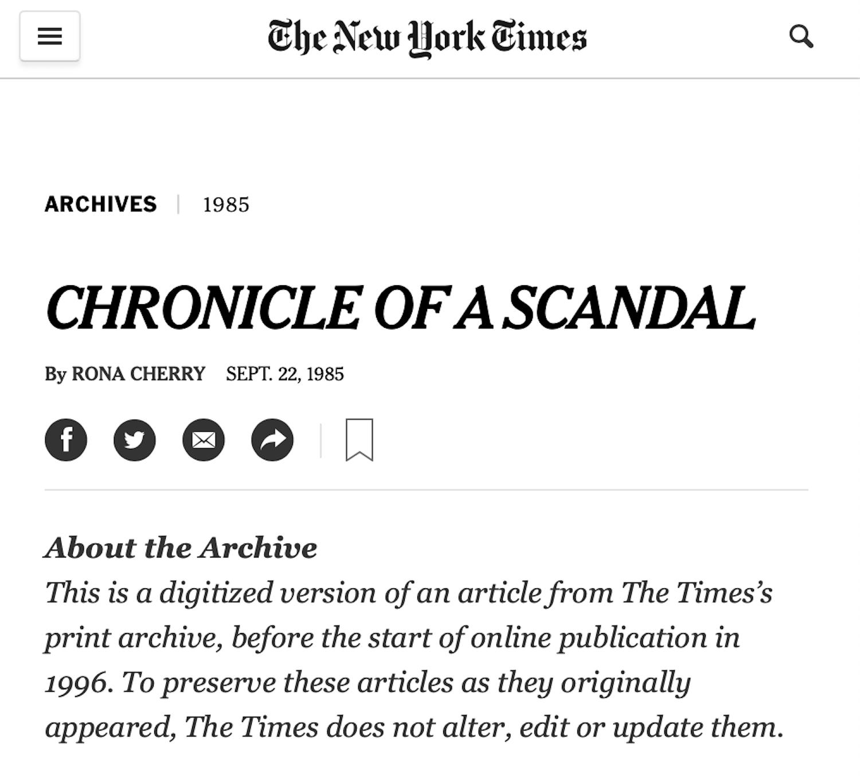 September 22, 1985 - New York Times