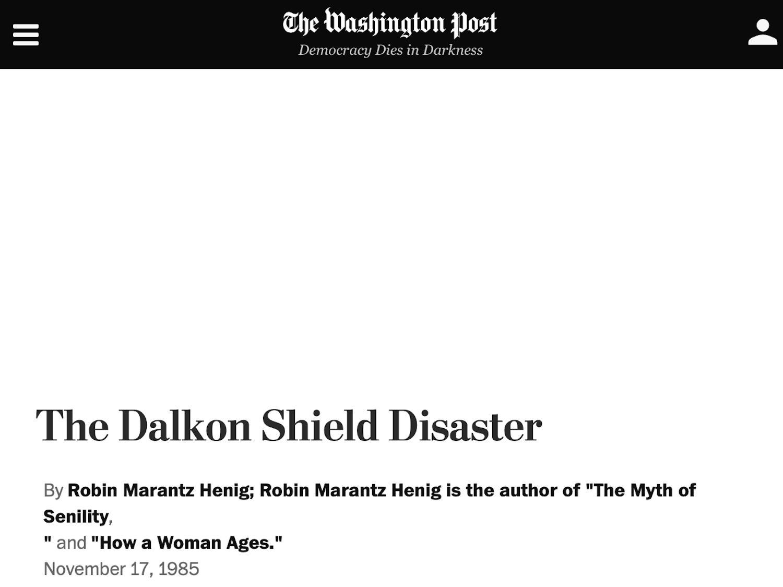 November 17, 1985 - Washington Post