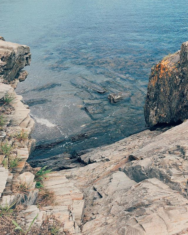 blue and yellow #ocean #Maine #rocky #vsco