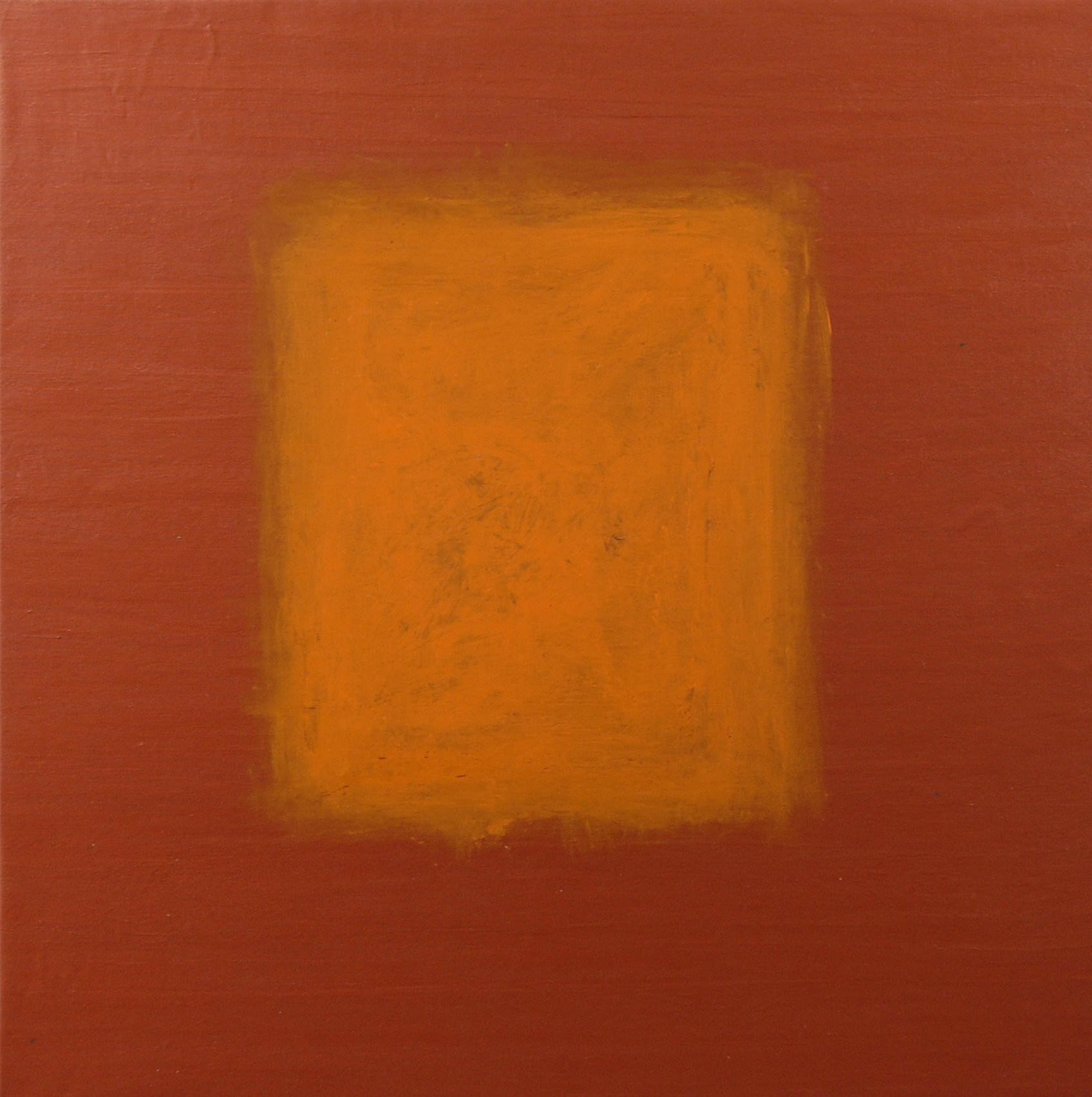 """Orange On Bronze"", Mixed Media on Canvas, 30""x30"", AVAILABLE"