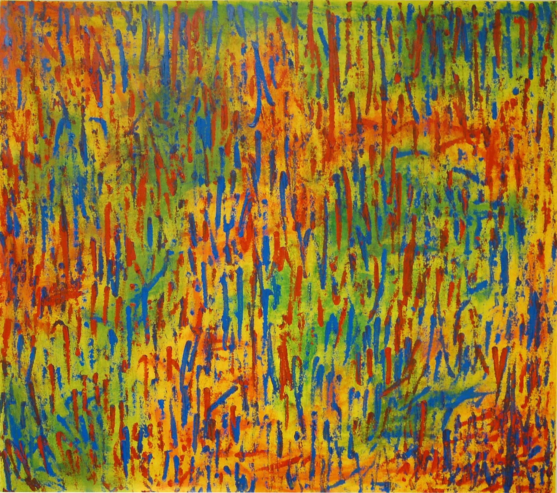 """Purple Rain"", Oil on Canvas, 48''x44, SOLD"
