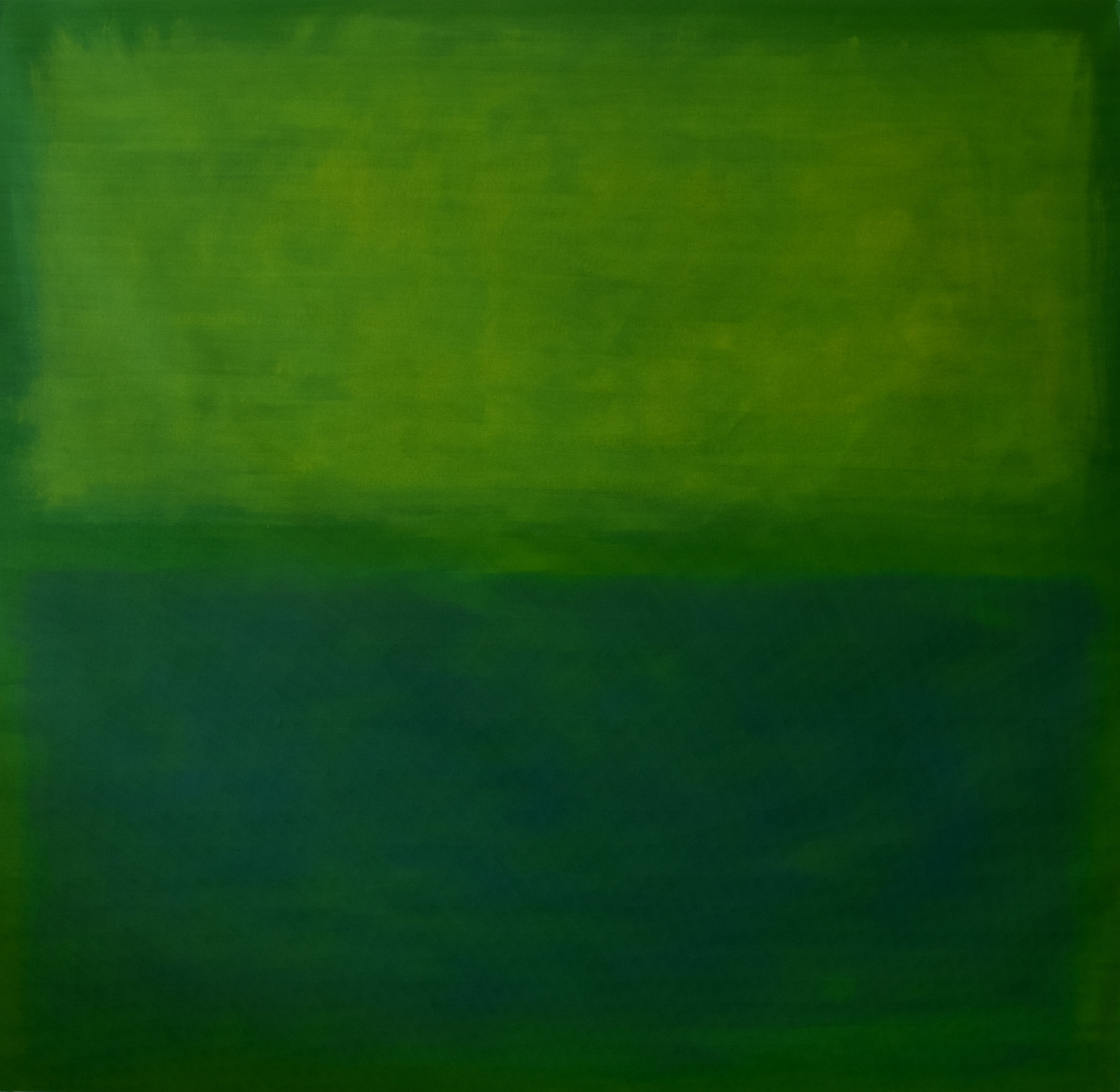 """Green Colorfield"", oil on canvas, 48""x48"", AVAILABLE"