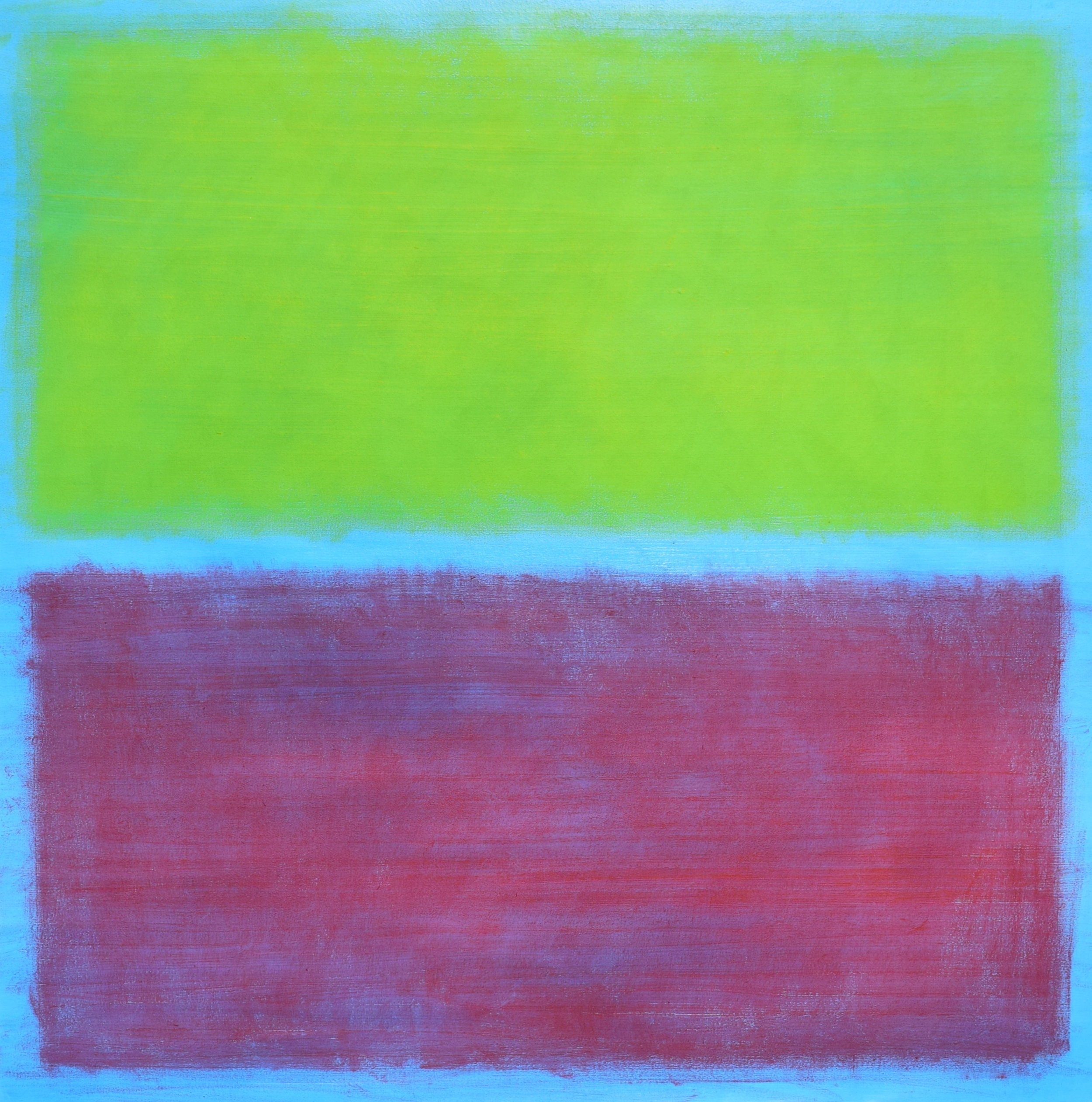 """Light Blue Colorfield"" oil on canvas, 48""x48"", AVAILABLE"