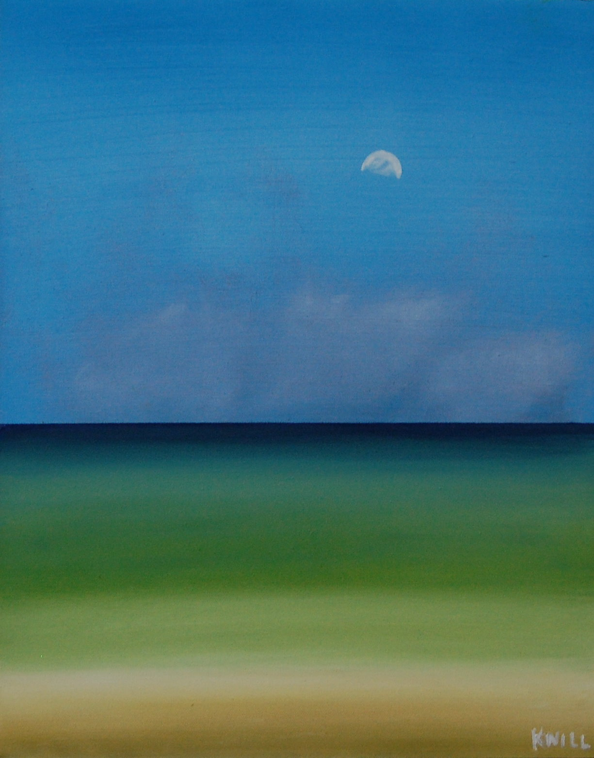 """Ocean And Moon"", oil on canvas, 16""x20"", SOLD"