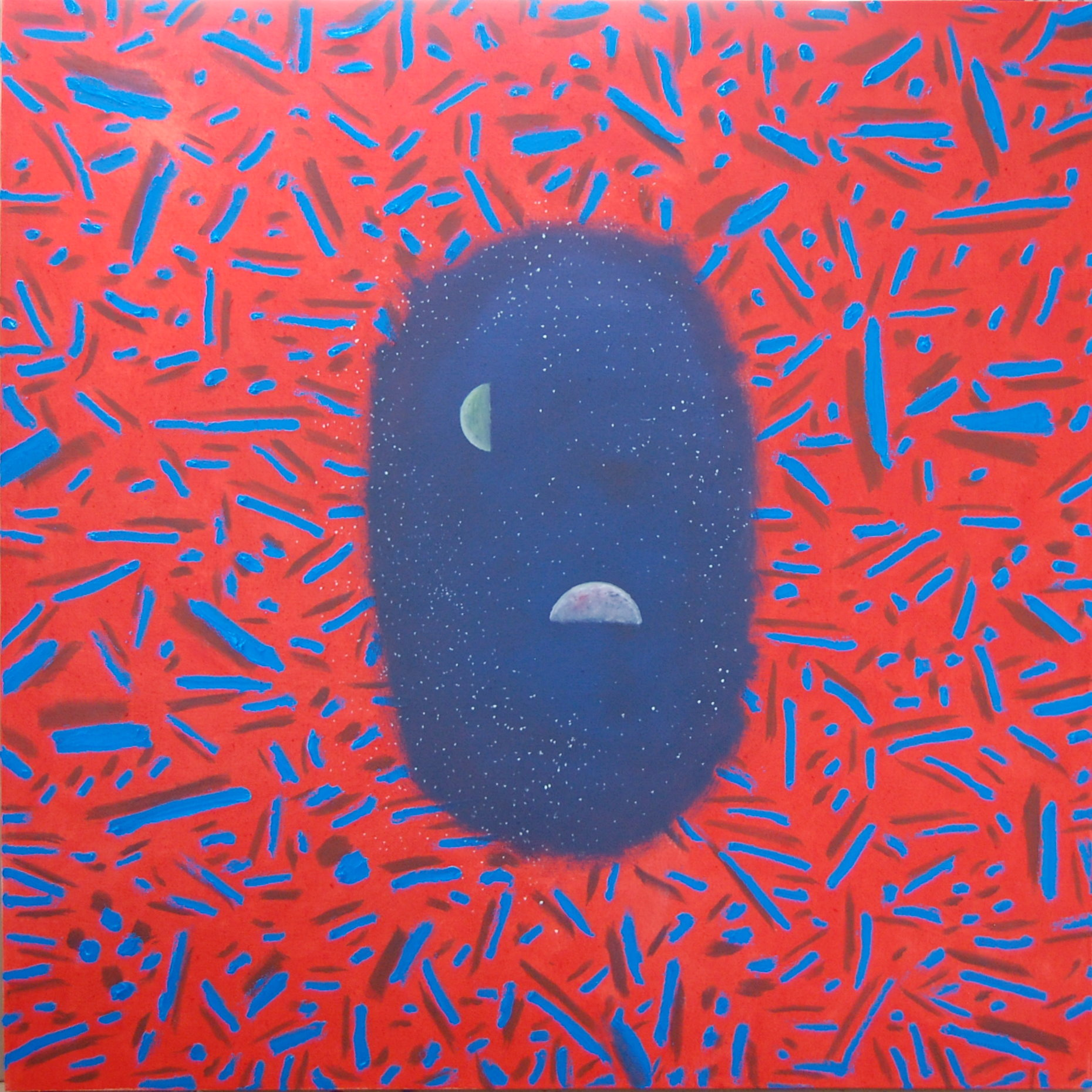 """Matter And Consciousness V"", oil on canvas, 48""X48"",AVAILABLE"