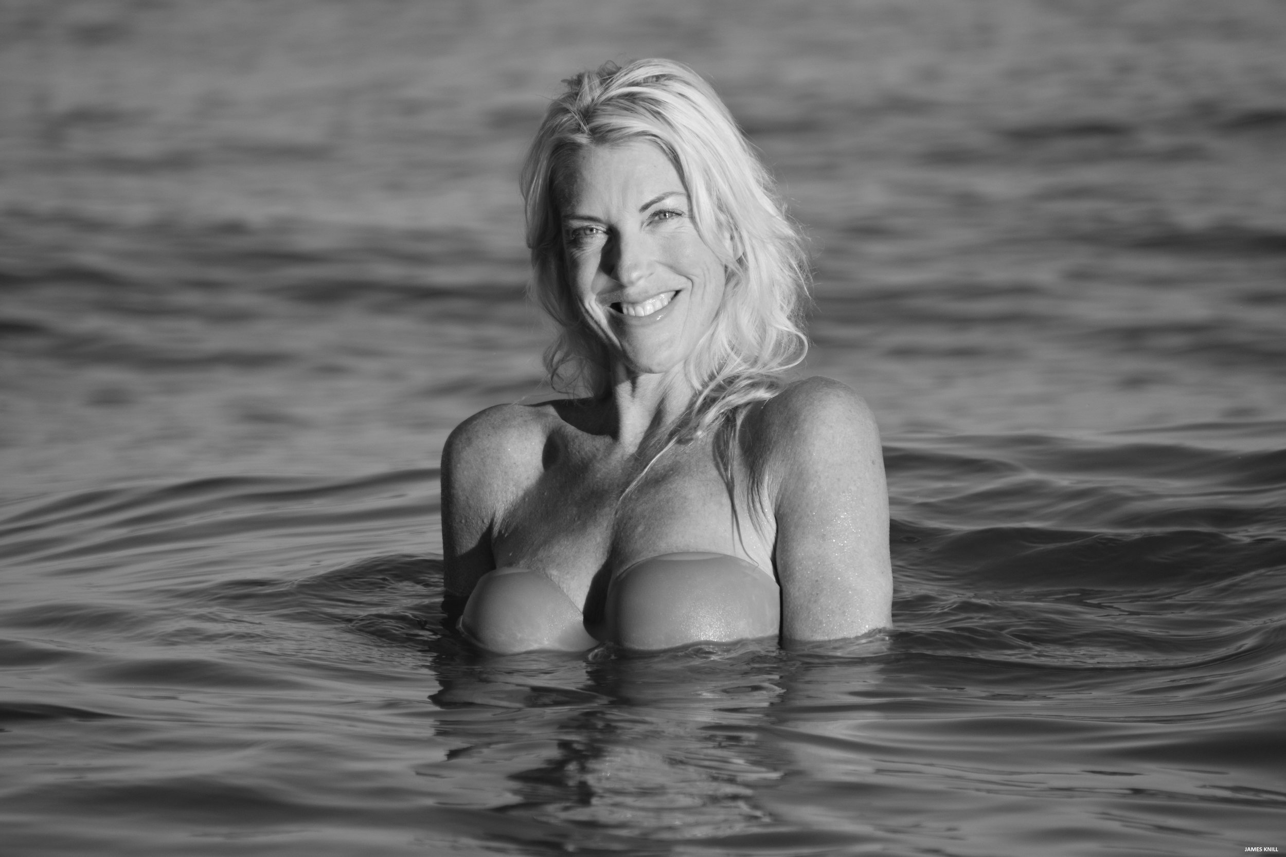 Black And White Portrait Photo Shoot In The Ocean. Photography By James Knill