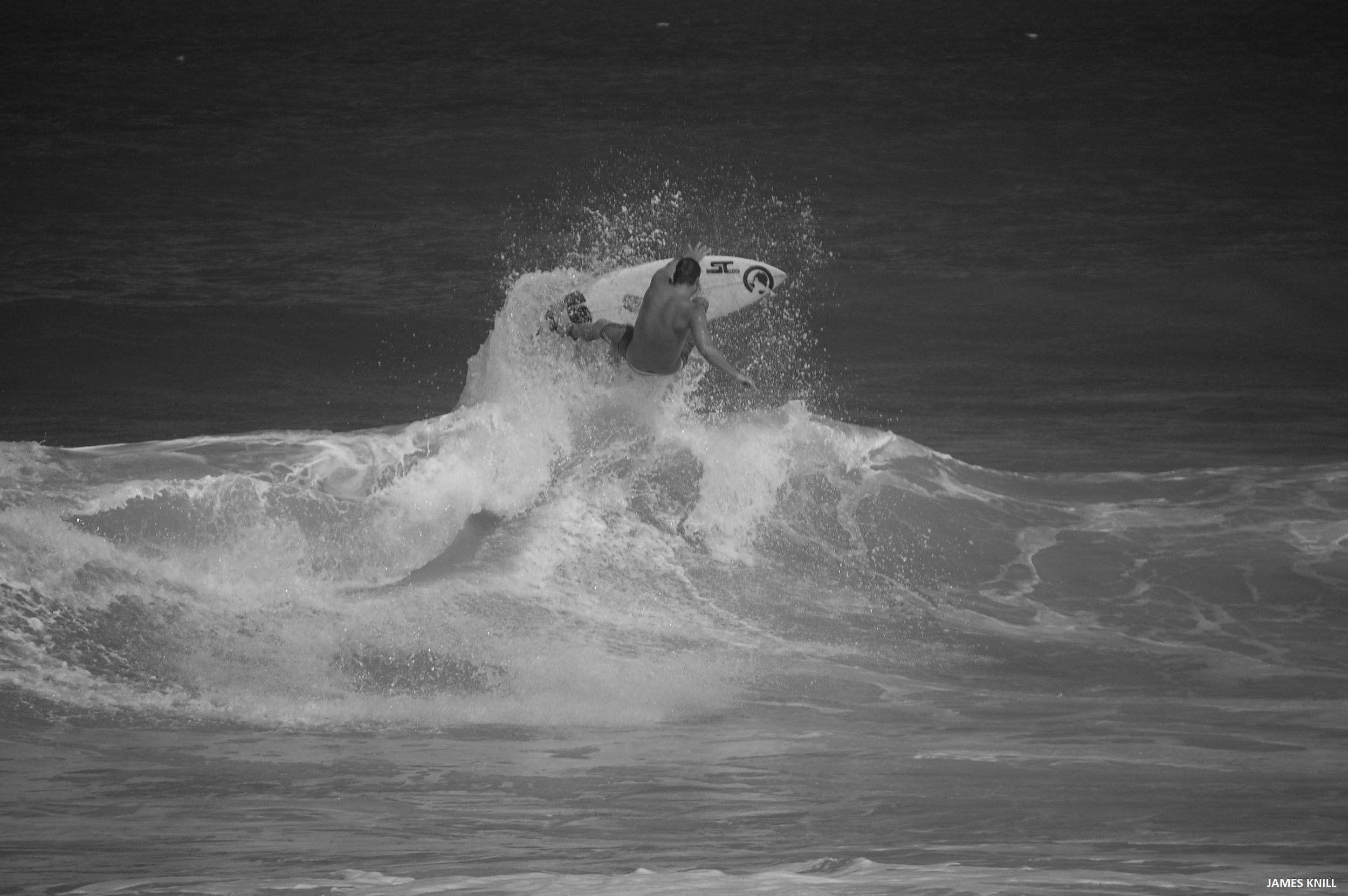 Evan Miller surfing in Martin County, Florida. Photography By James Knill