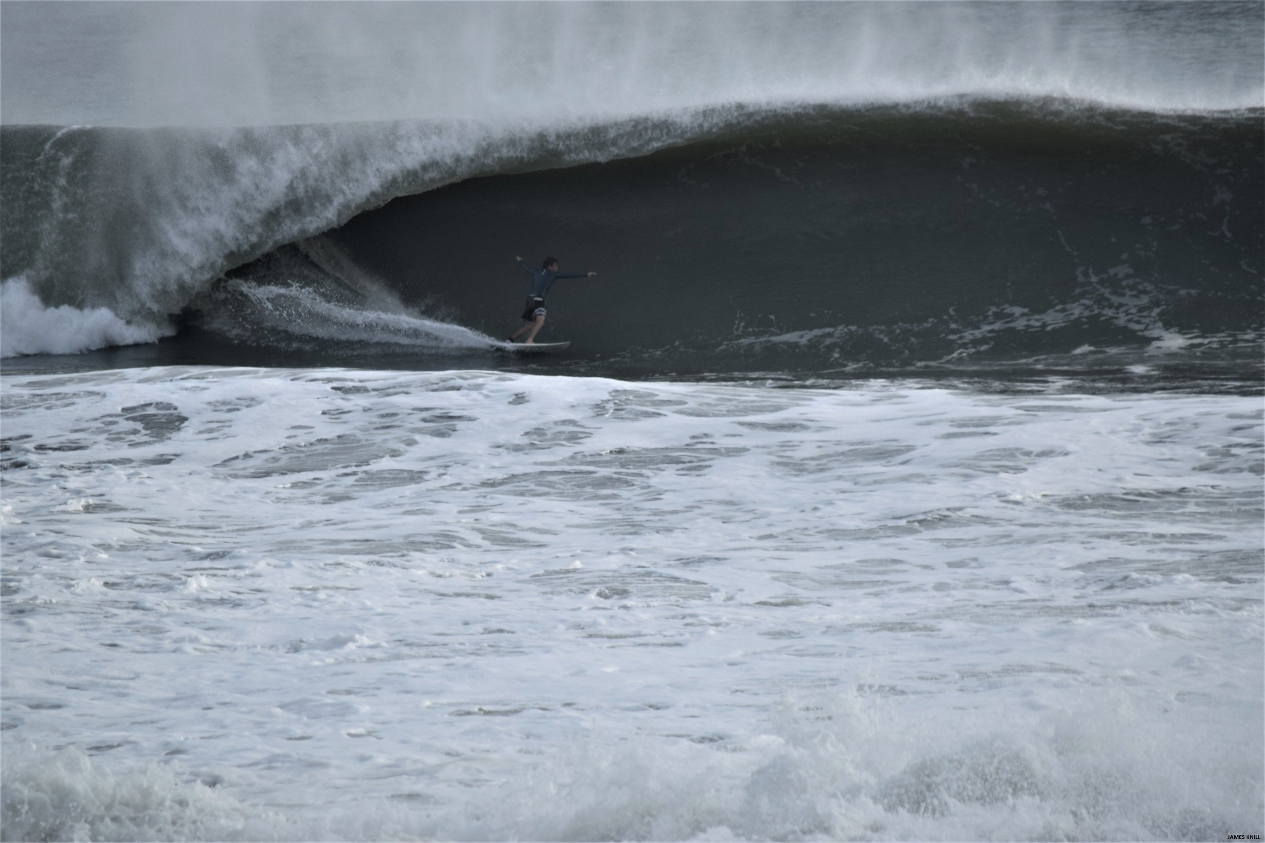 Winter Storm Riley. Ylan Abeger Surfing In Martin County, Florida. Photography By James Knill