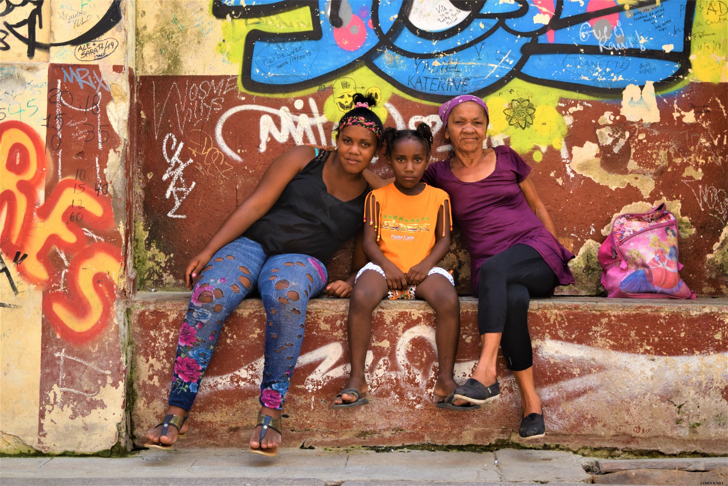 "Havana, Cuba ""Portrait of a Mother and Daughters"""