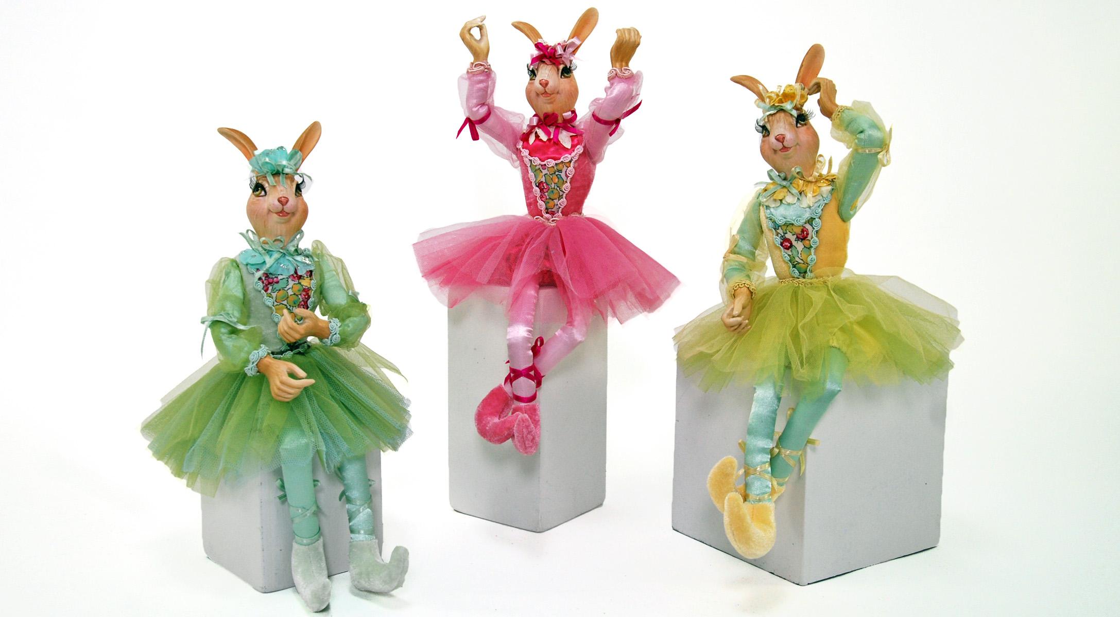 Natalia/Giselle/Allegra 15 Inch Rabbits - Assortment Of 3  11-540193