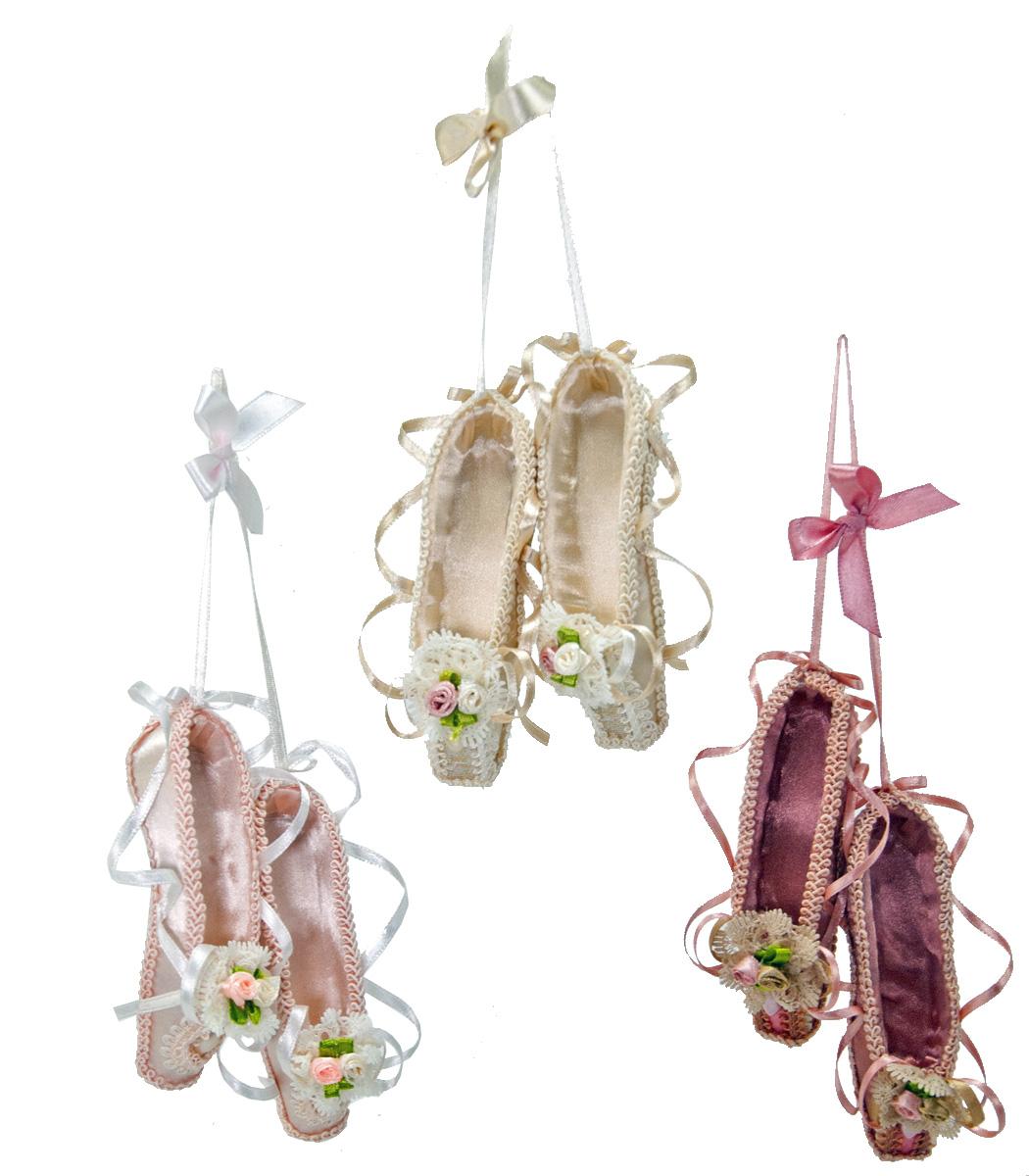 Ballerina Shoe Ornament - Assortment Of 3  18-584463