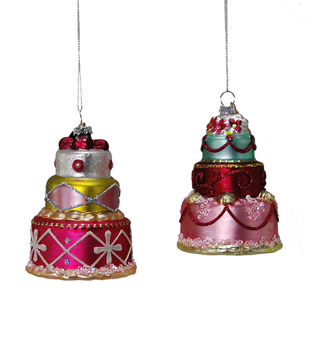 Cake Stack Ornament - Assortment Of 2  22-524714