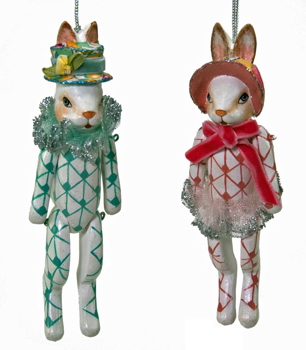 Bunny Pair Ornament - Assortment Of 2  28-530620