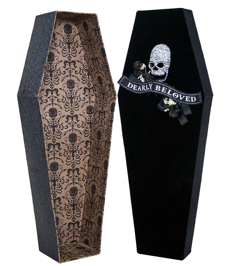 Large Velvet Coffin Box