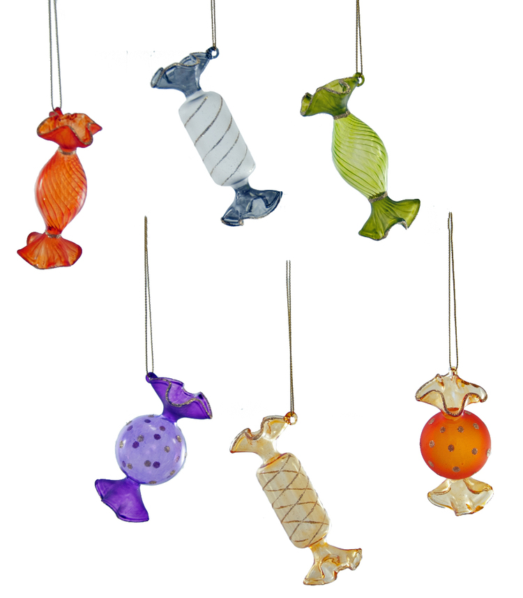 Halloween Glass Candy Ornaments