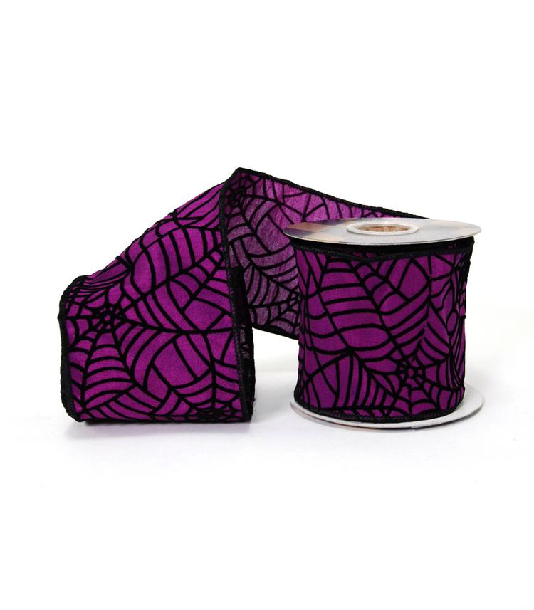 Purple Spiderweb Ribbon