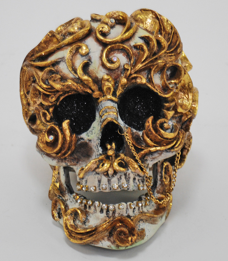 Venetian Scroll Skull from   Venetian Masquerade
