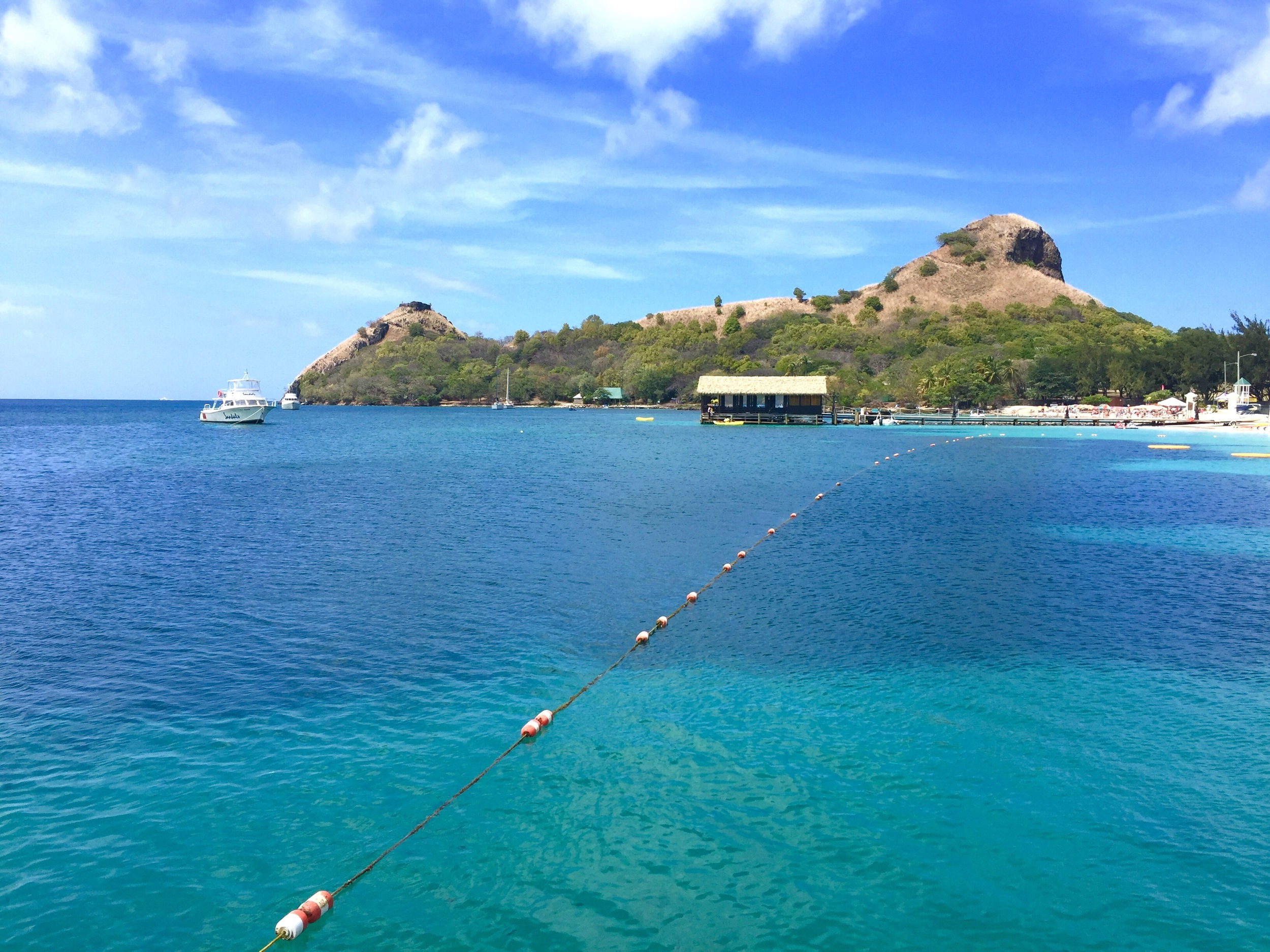 Pigeon Island view from Sandals St Lucia