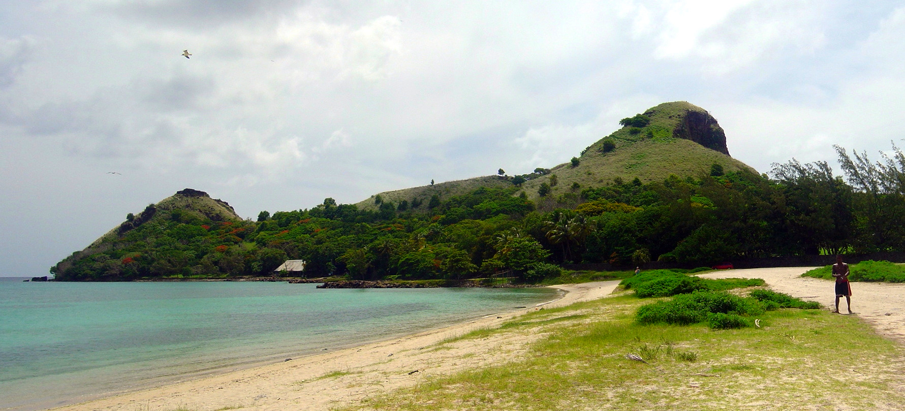 Pigeon Island as seen from the causeway