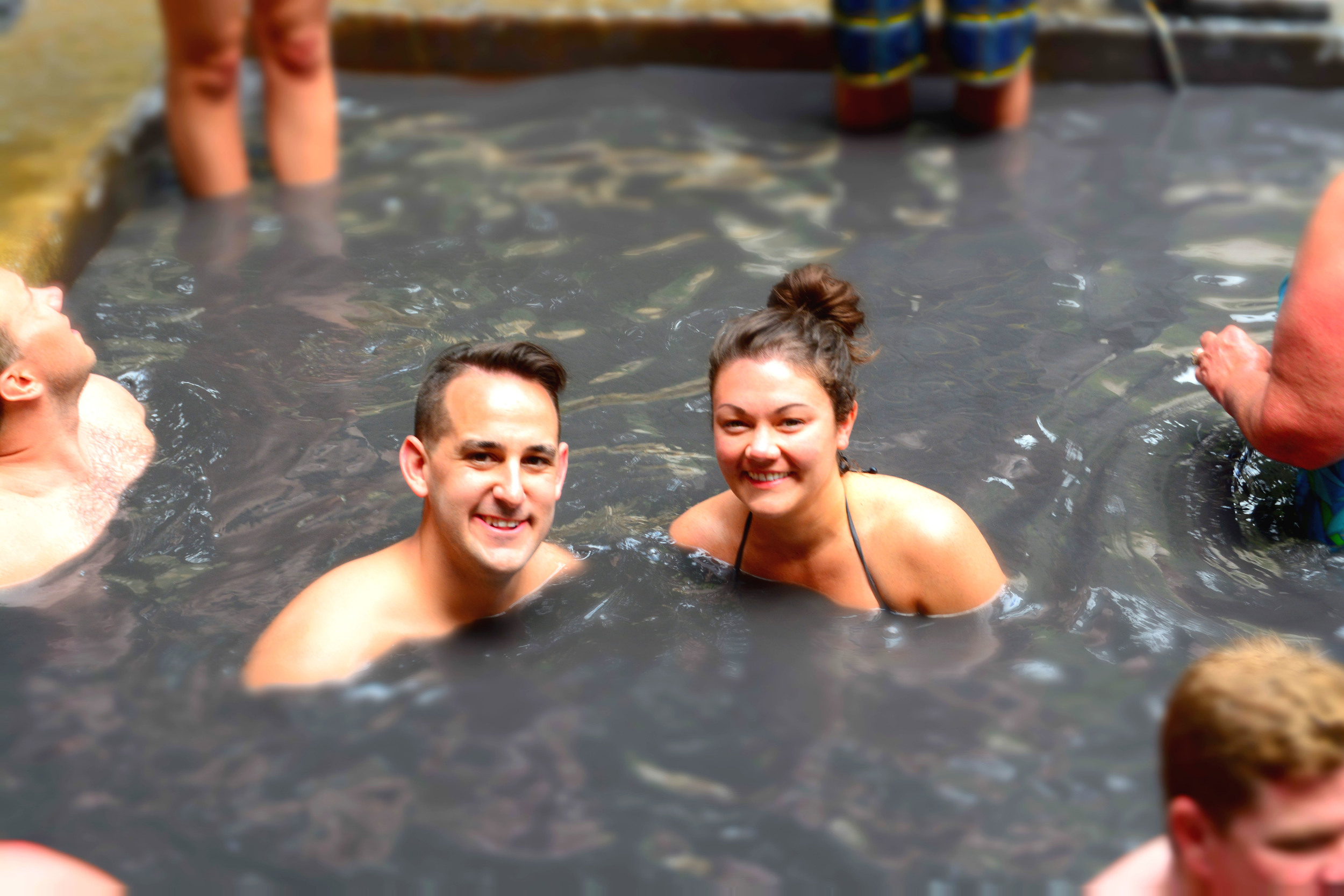 Volcanic mud bath at the La Soufriere Drive-In Volcano