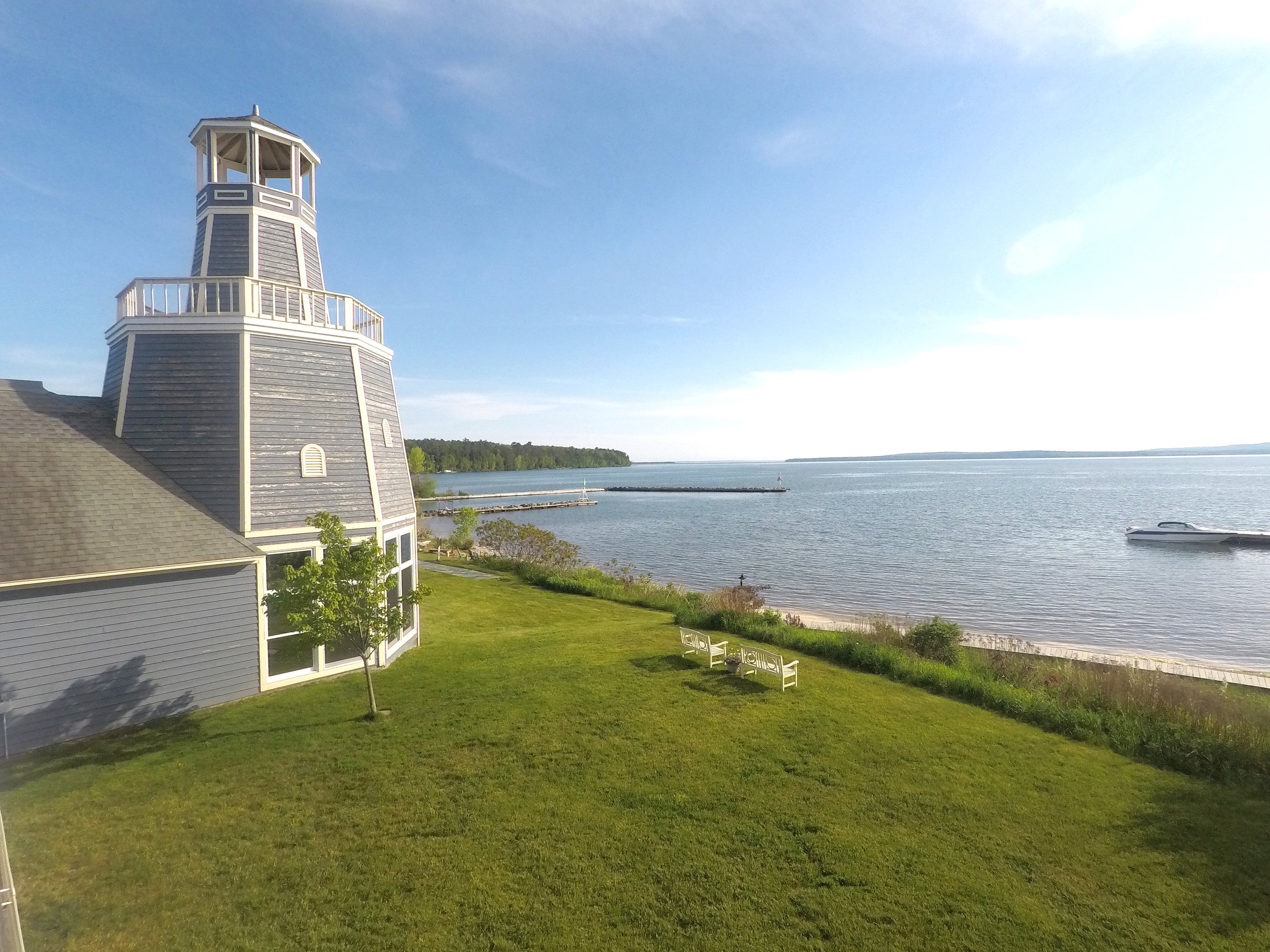 View from the Inn on Madeline Island on Lake Superior