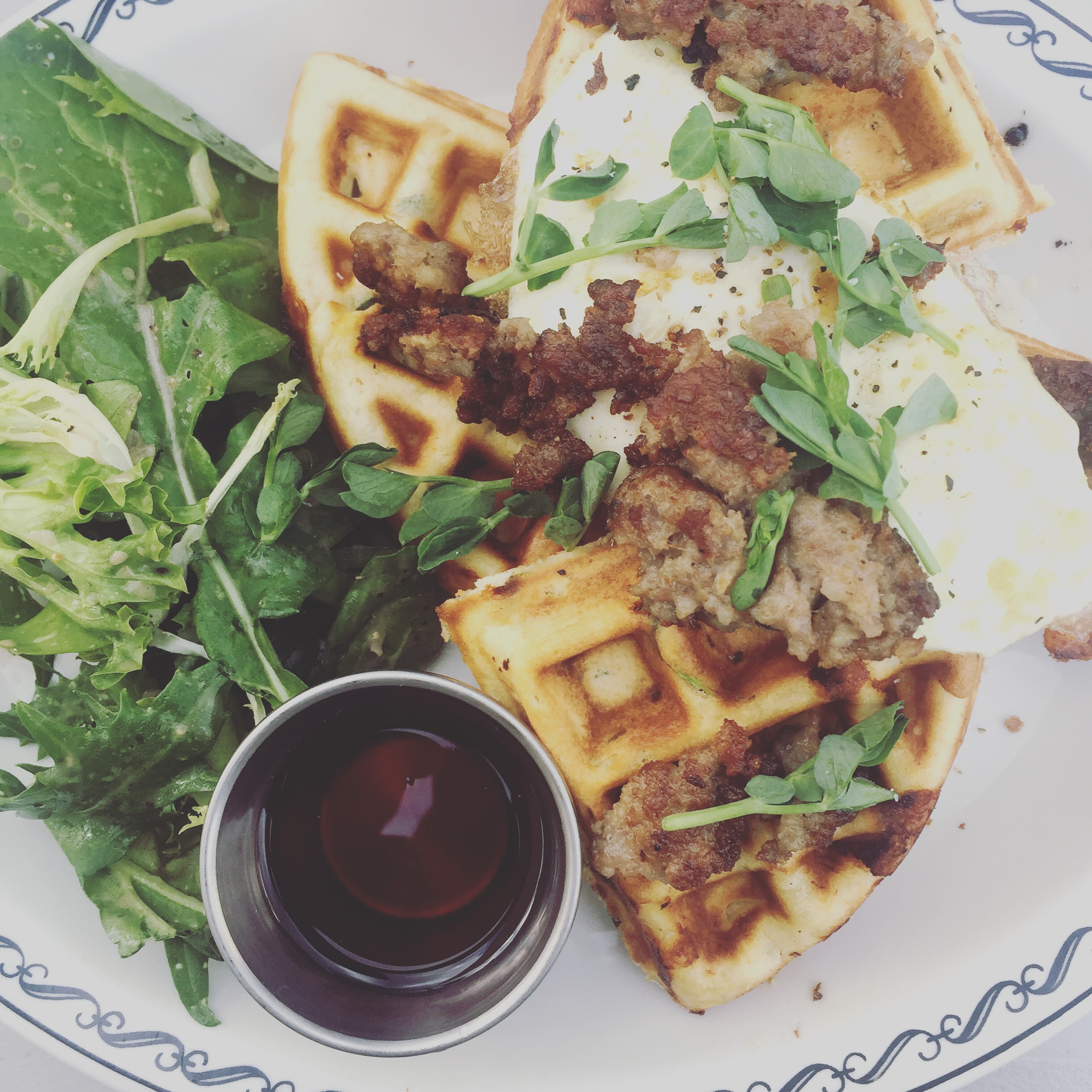 The Savory Waffle at scratch eatery Farmhouse is to die for!