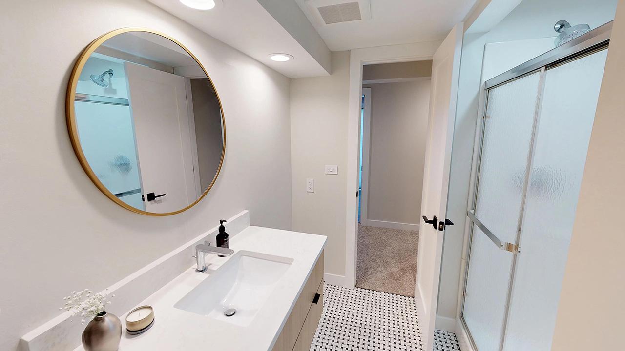 Basement bathroom (after)