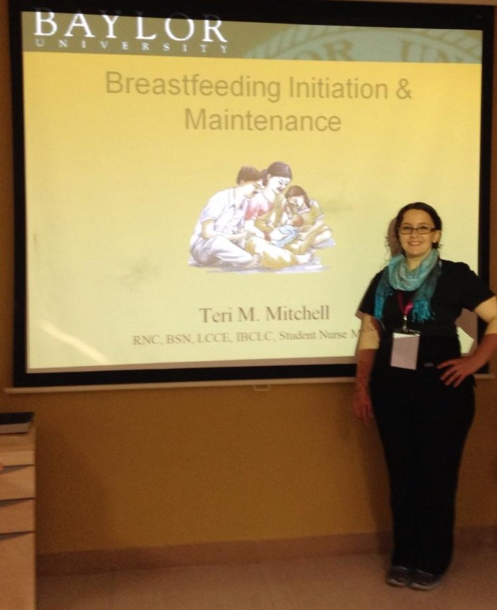 Teri teaching midwives in India about breastfeeding