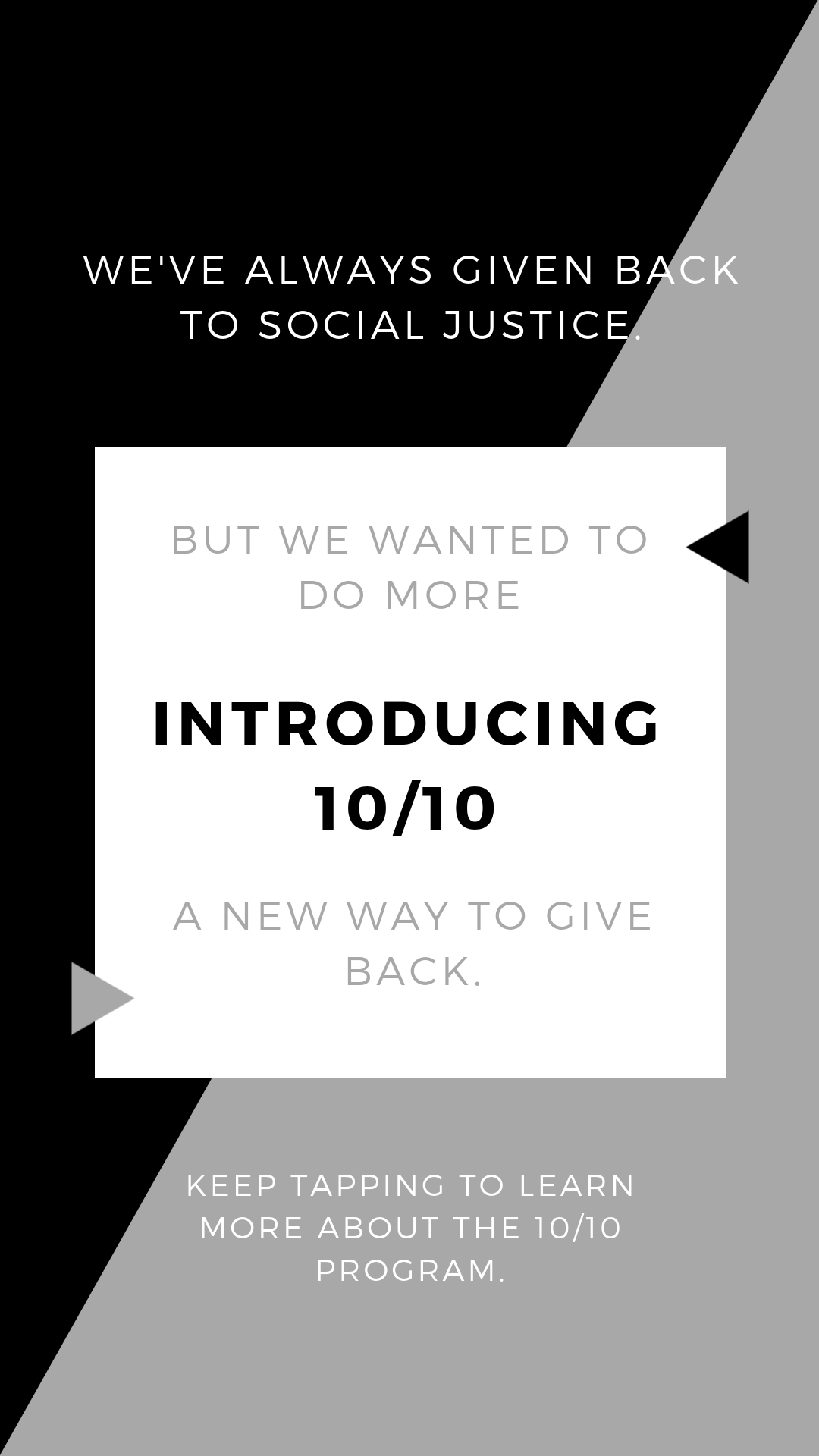 Part of an Instagram story post created for BLoFISH Clothing explaining a new marketing initiative.