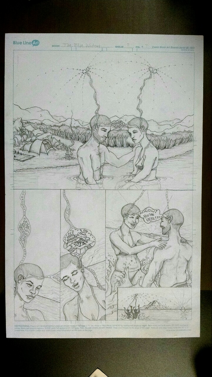 Finished the page. Next step, ink. (Lettering and balloons will be done in Manga Studio.)