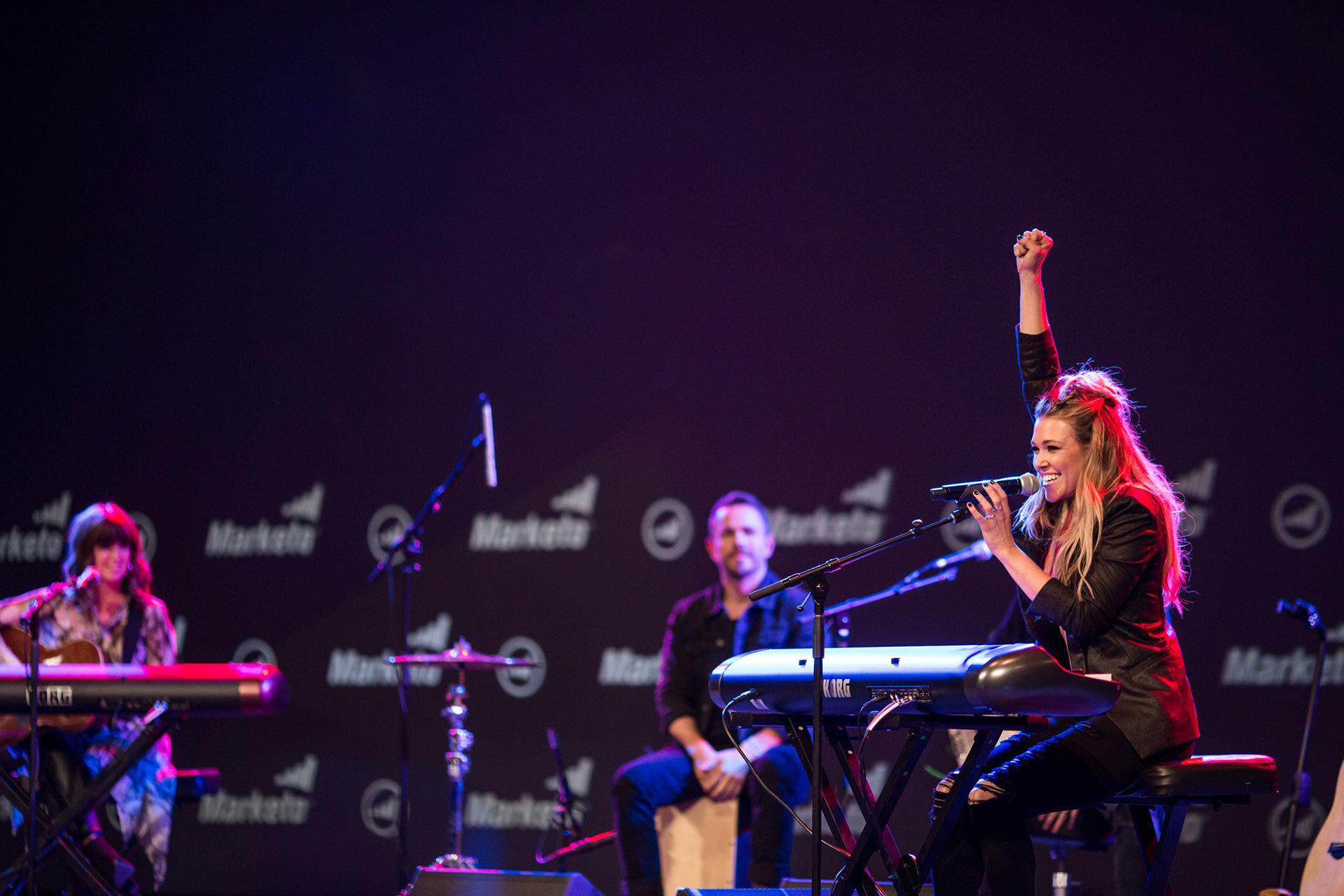 Performance by Rachel Platten