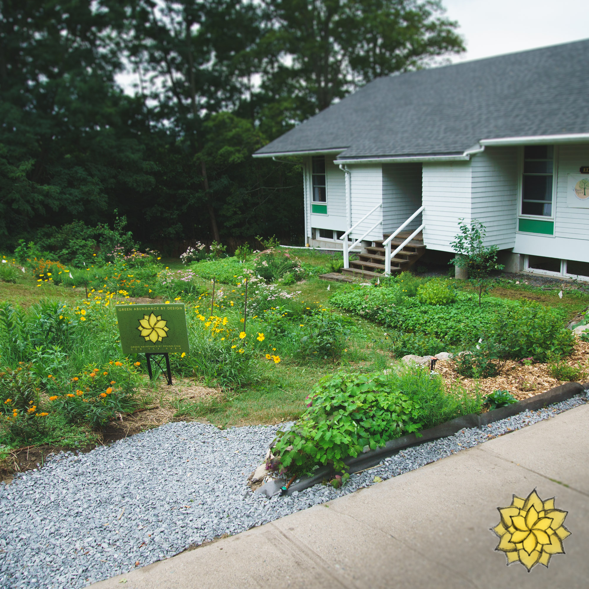 Rain Gardens - We love making gardens that harvest the bounty of nature's abundance. Rain gardens are an important part in our landscapes as they help store and clean nature's most precious resource.