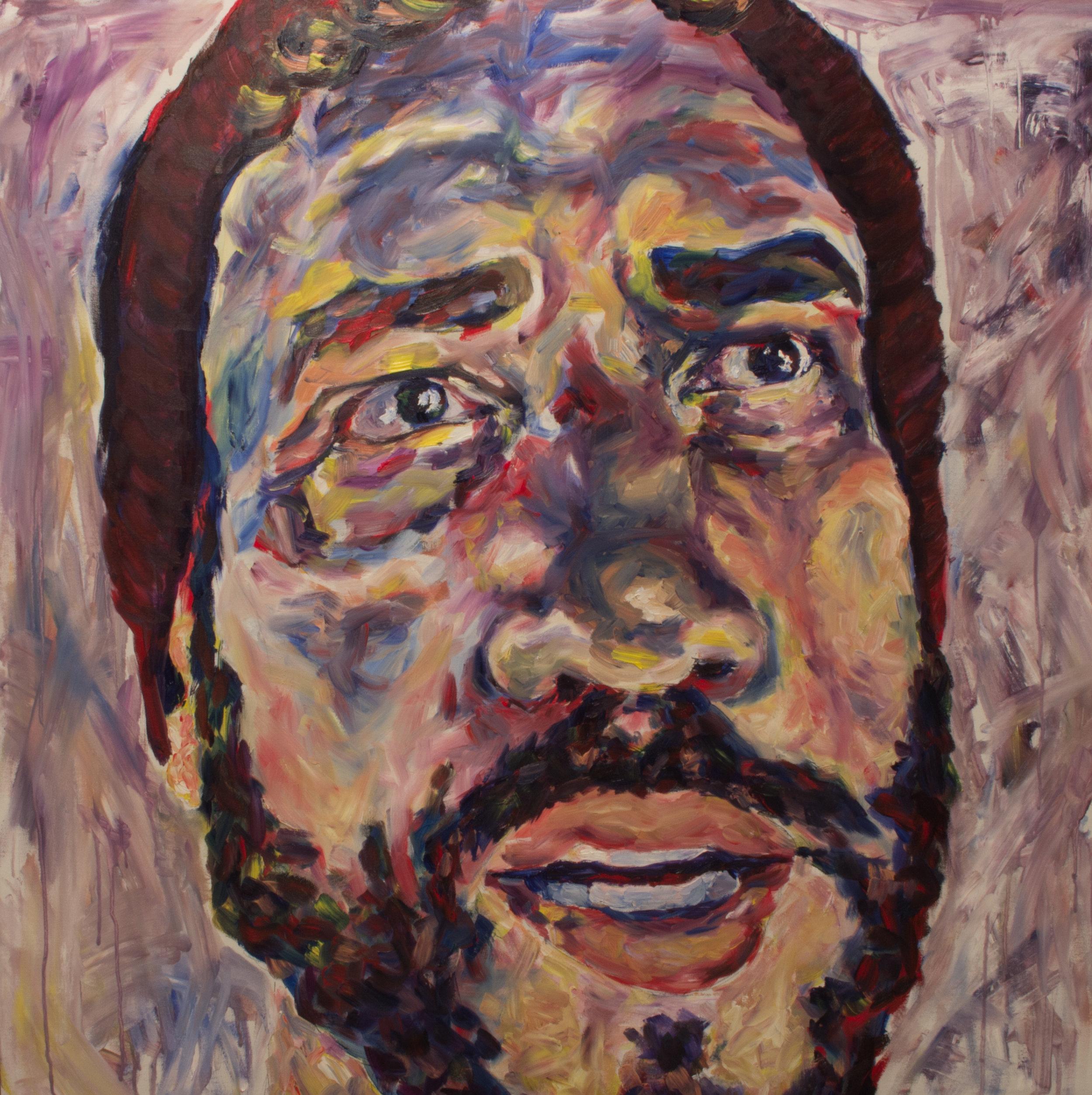 """Jarad, 48x48"""", Oil on Canvas"""