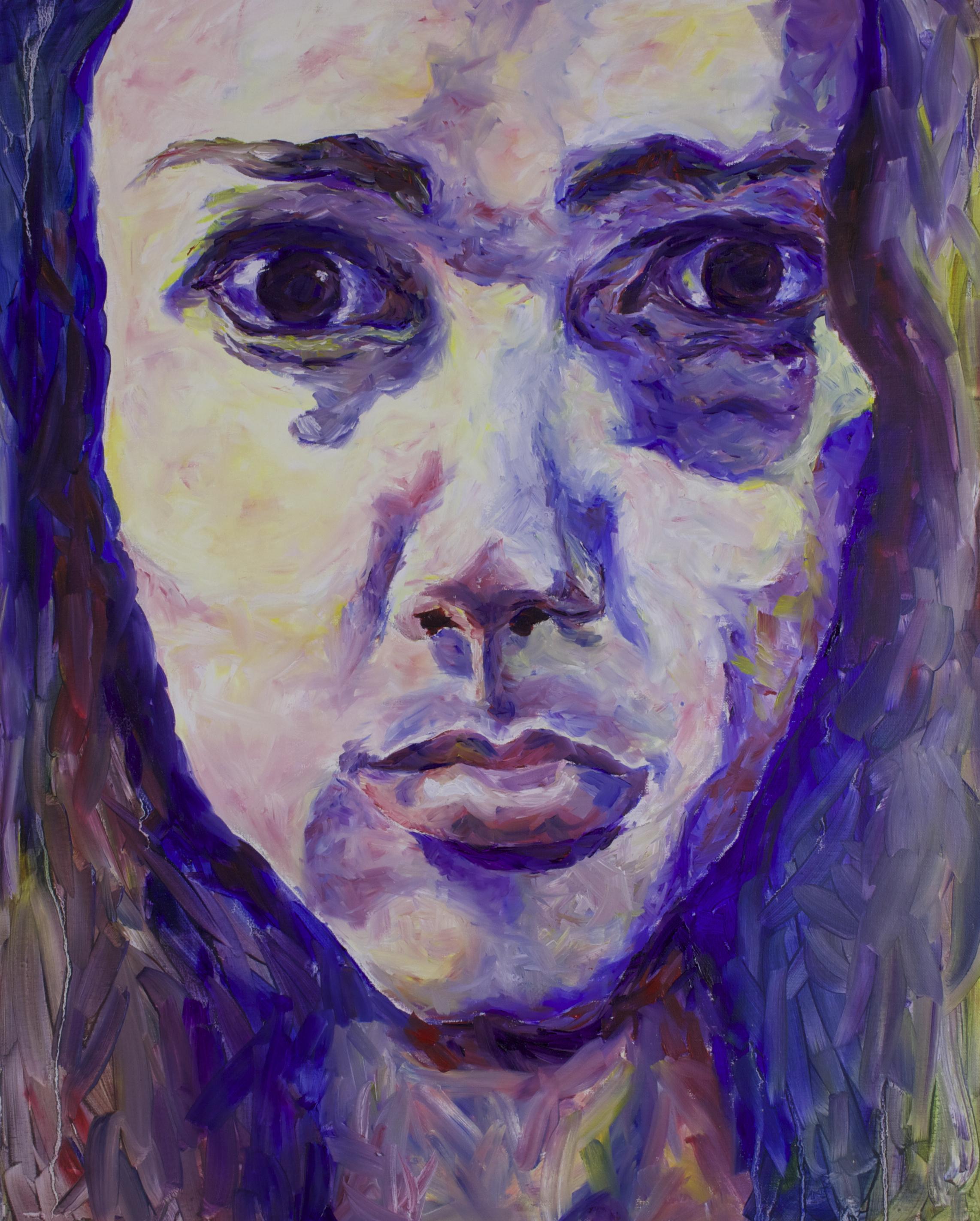 """Sara, 30x32"""", Oil on Canvas"""