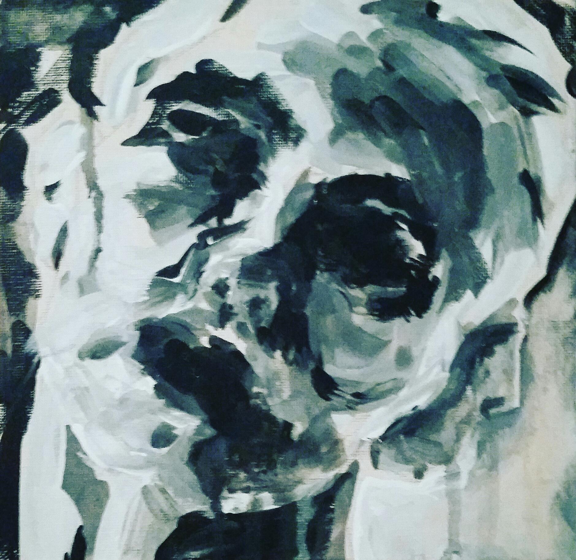 """Alexa, 8x8"""", Acrylic on Canvas"""