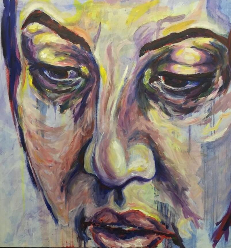 """Leah, 48x48"""", Oil on Canvas"""