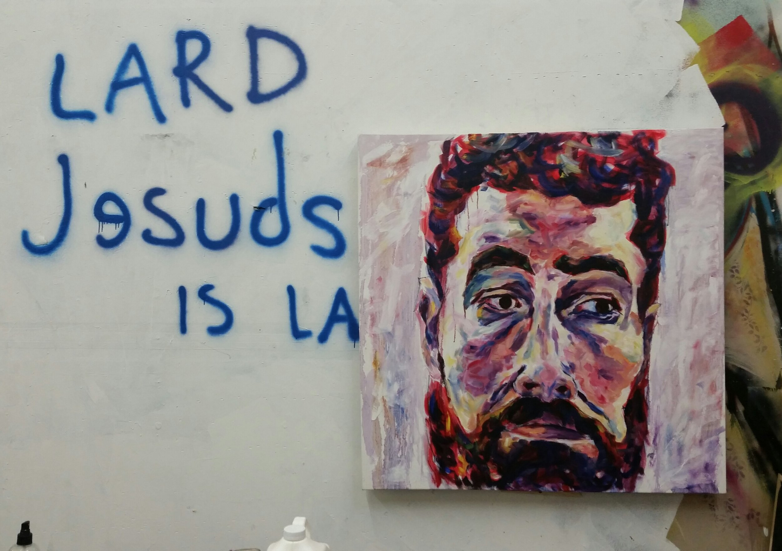 "David, 48x48"", Oil on Canvas"