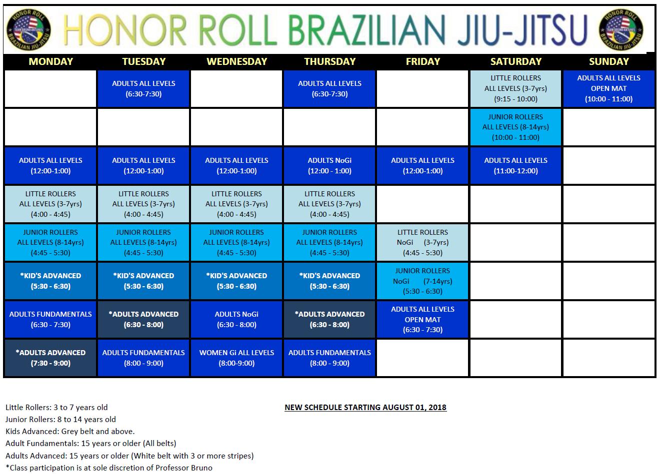 Brazilian Jiu-Jitsu  Schedule serving in Santa Clarita, Saugus, Valencia, Canyon Country, Castaic, and Newhall.