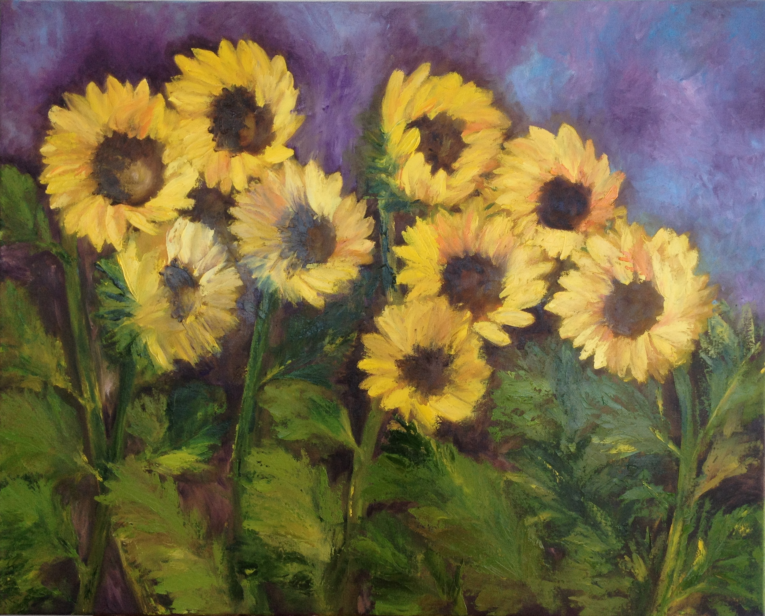 Sunflowers by the Roadside