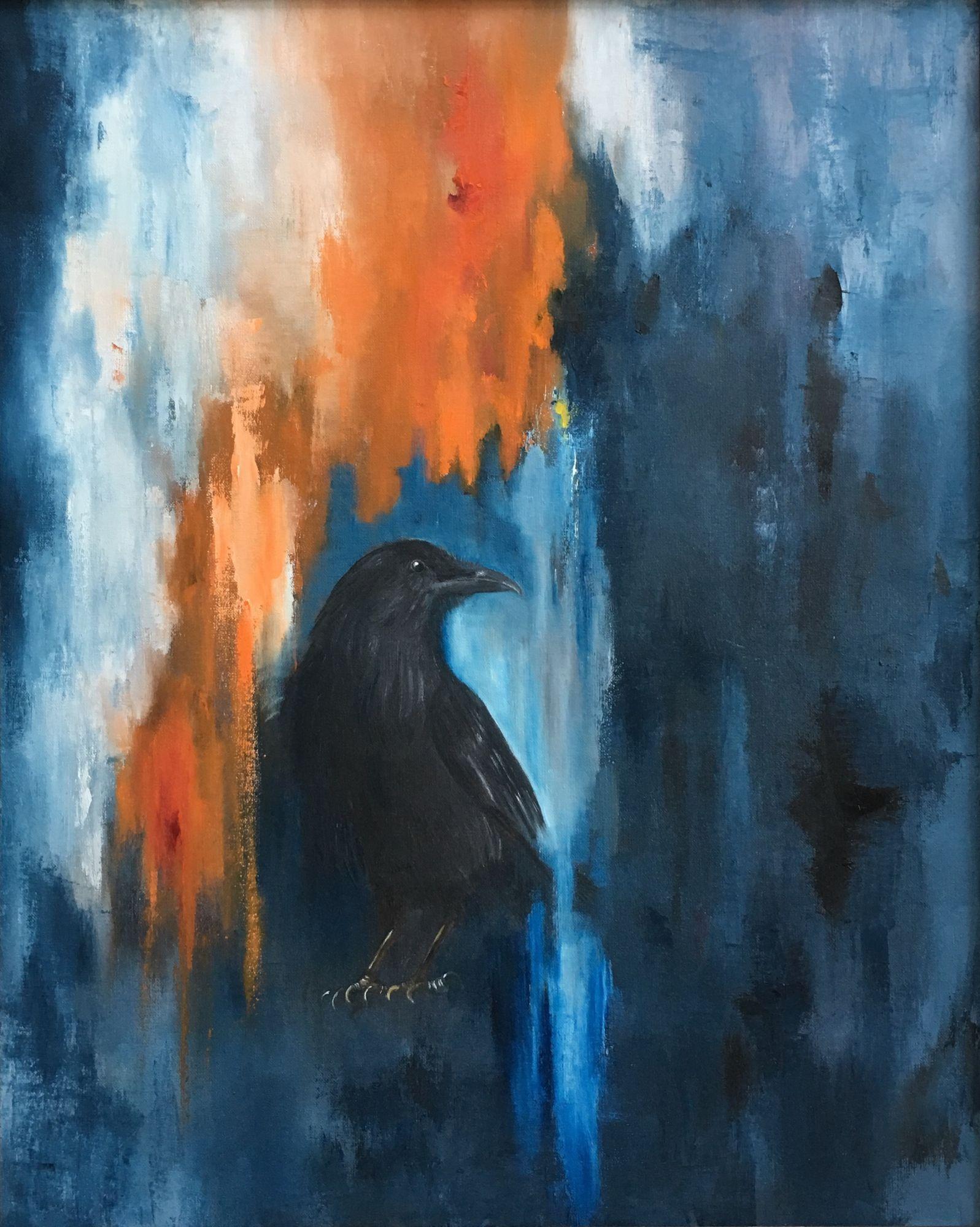 "Denizen of Sutro Tower  36"" x 24""  Oil  In SFWA Gallery"