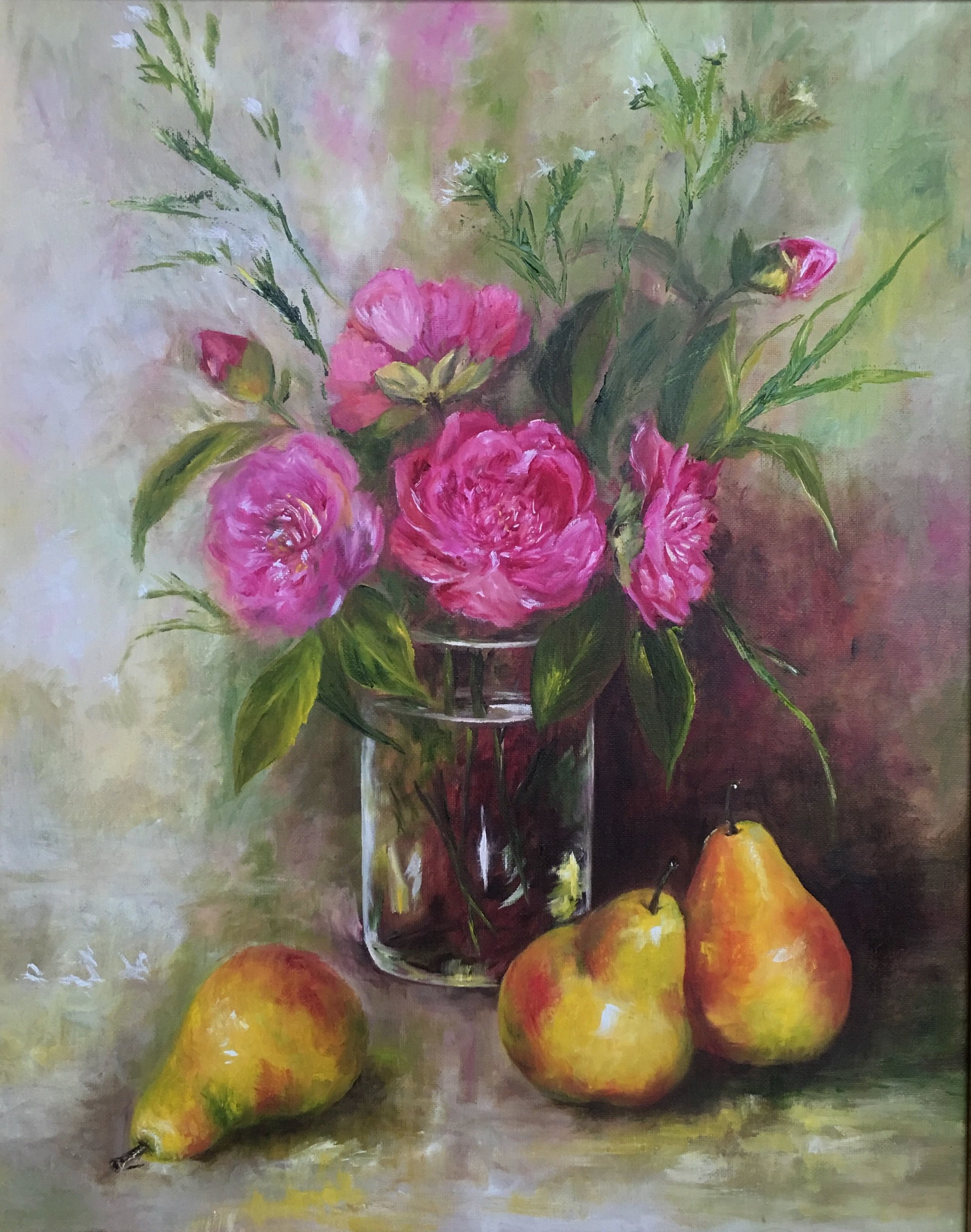 Camellias and Pears