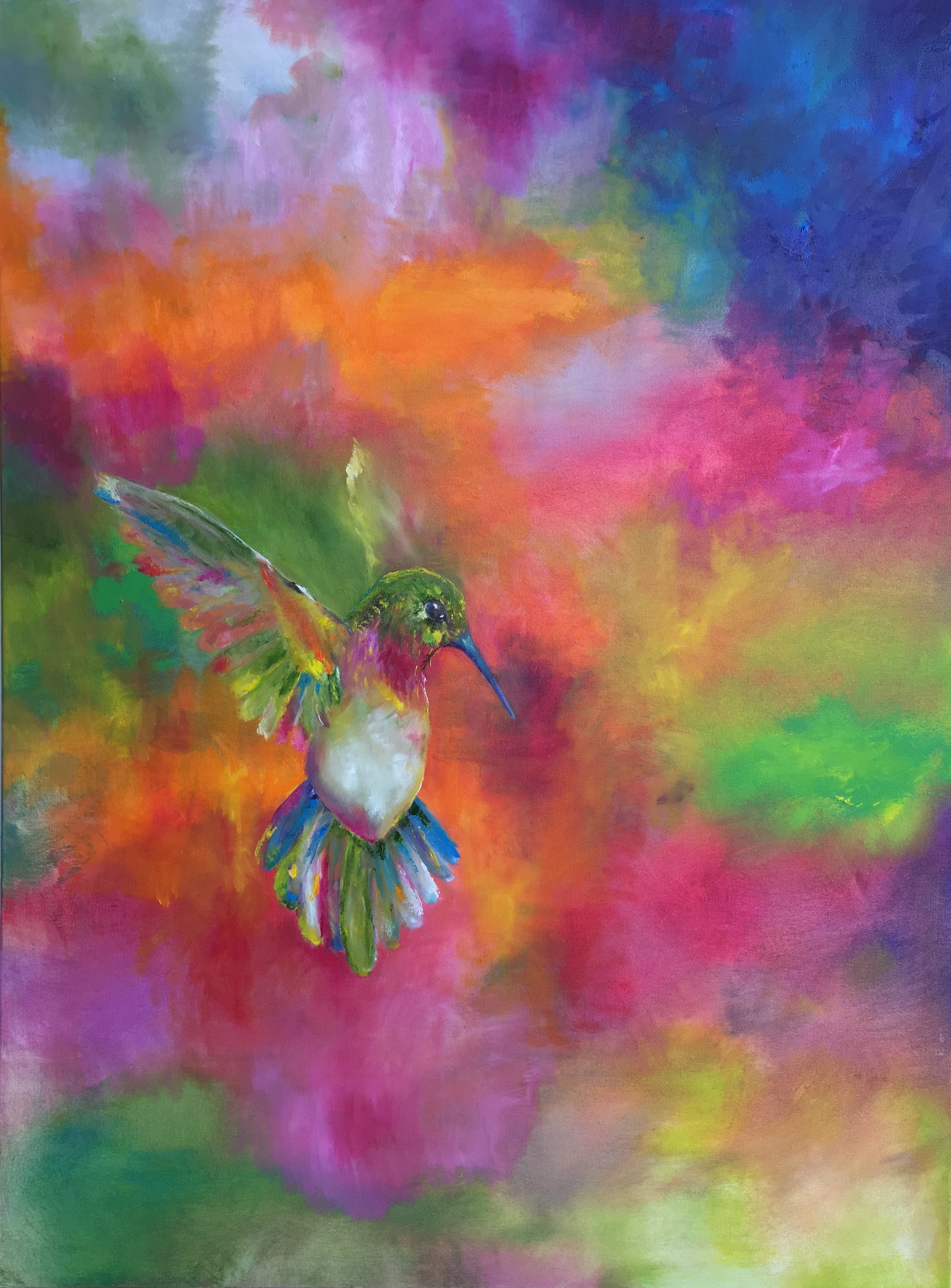 Vibrant Color Dancing Light