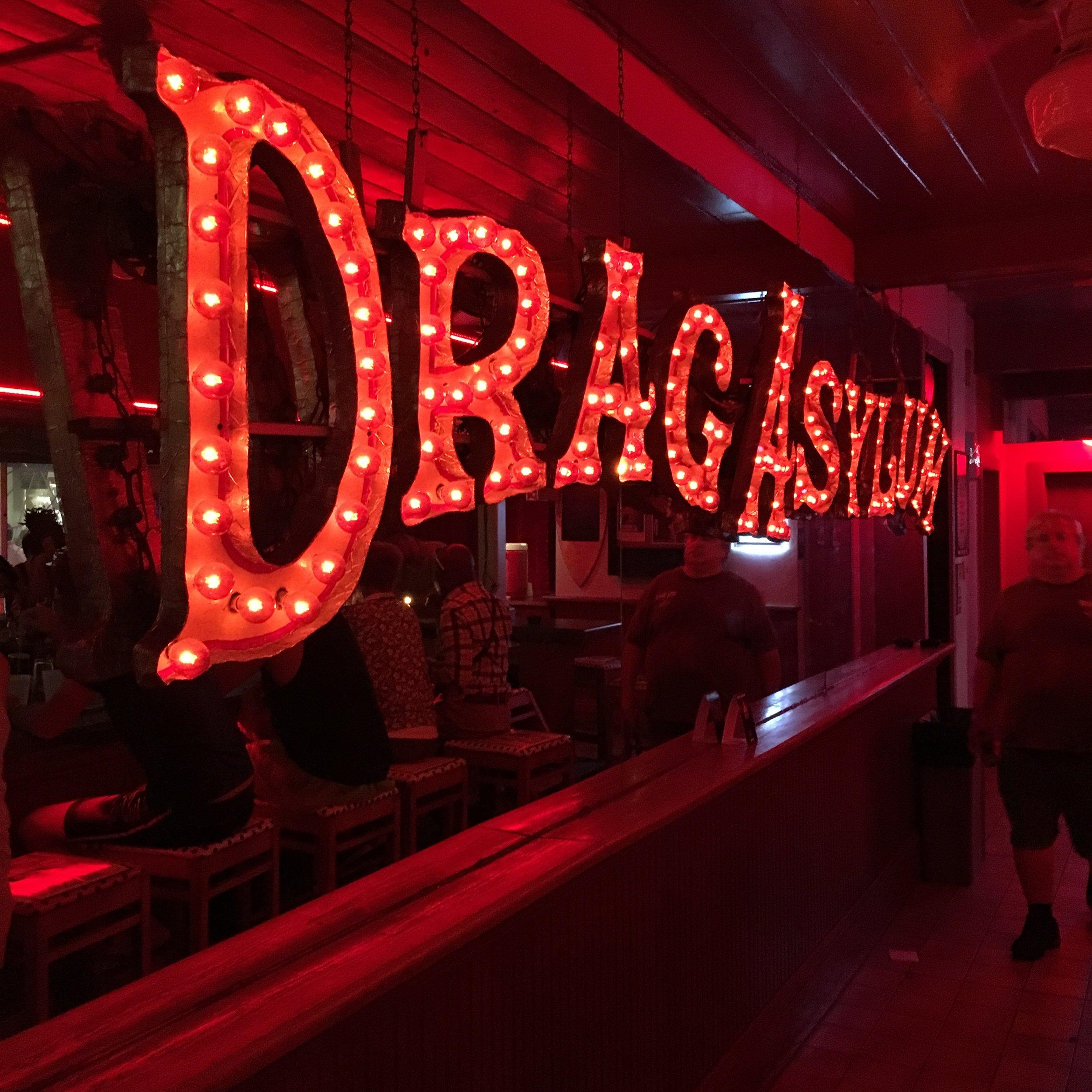 801 bourbon street key west bar sign iit drag aslyum