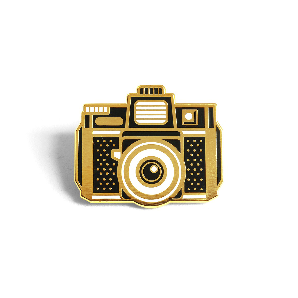 """LLS066 : Holga Camera Hard Enamel Pin 1.12"""" x 1"""" $4"""