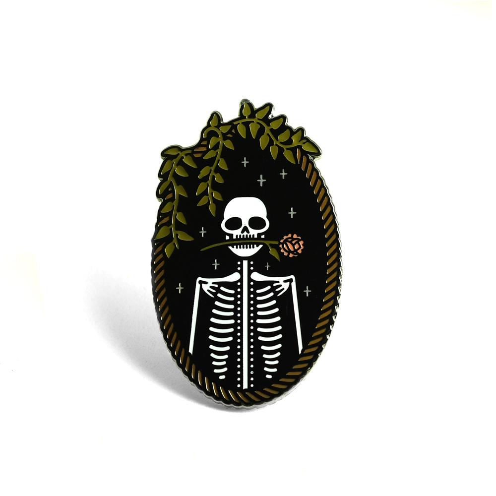 "LLS070 : tinycup Jackie Hard enamel pin 1"" x 2"" $5"
