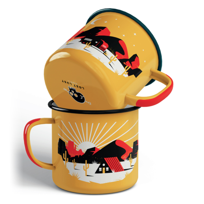 LLS138 : Home on the Range Mug enamel + steel camp mug 12 oz.   $18
